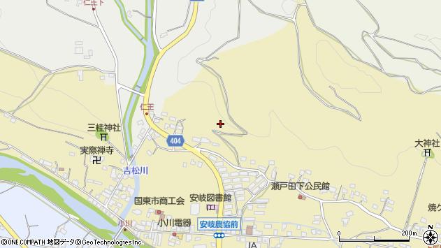 大分県国東市安岐町瀬戸田日向周辺の地図