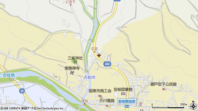 大分県国東市安岐町瀬戸田7周辺の地図