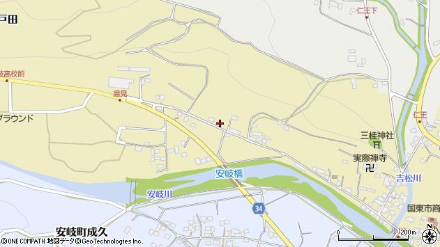 大分県国東市安岐町瀬戸田982周辺の地図