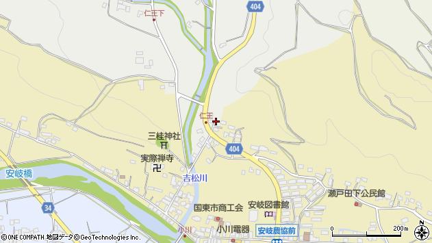 大分県国東市安岐町瀬戸田26周辺の地図