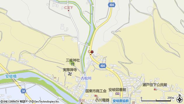 大分県国東市安岐町瀬戸田27周辺の地図