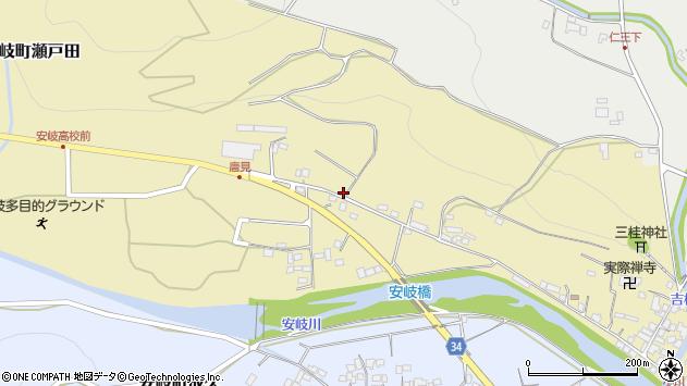 大分県国東市安岐町瀬戸田976周辺の地図