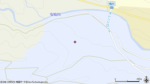 大分県国東市安岐町成久内ケ畑周辺の地図