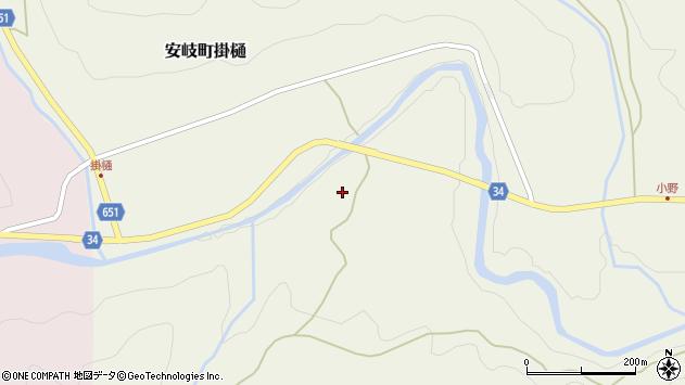 大分県国東市安岐町掛樋152周辺の地図