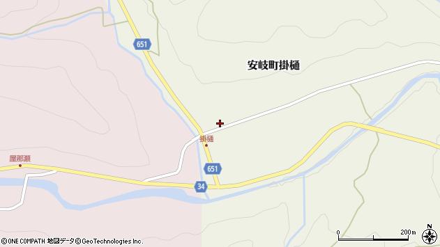大分県国東市安岐町掛樋946周辺の地図