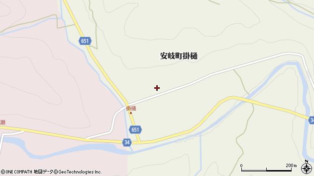 大分県国東市安岐町掛樋799周辺の地図