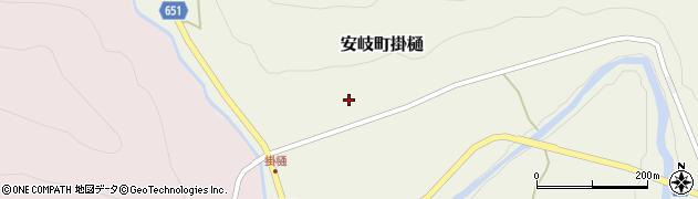 大分県国東市安岐町掛樋817周辺の地図
