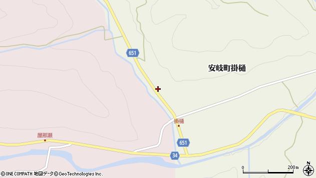 大分県国東市安岐町掛樋1390周辺の地図
