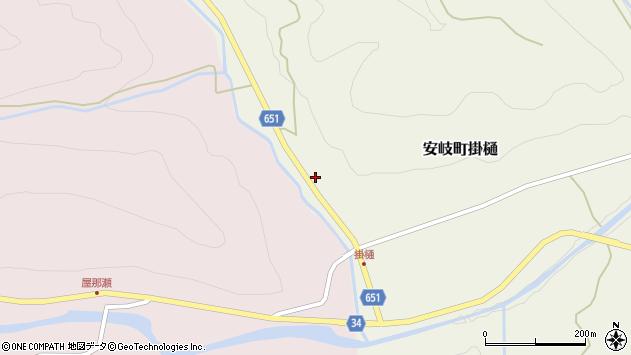 大分県国東市安岐町掛樋1386周辺の地図