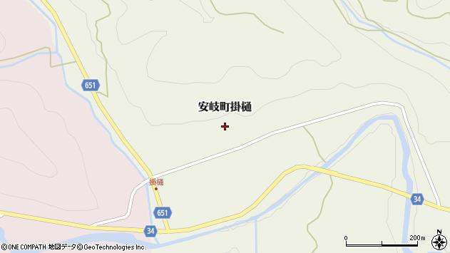 大分県国東市安岐町掛樋筧周辺の地図