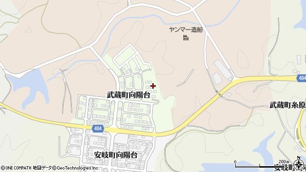 大分県国東市武蔵町向陽台2周辺の地図
