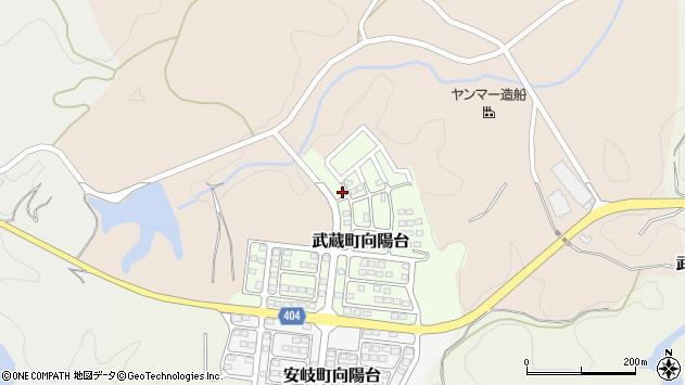 大分県国東市武蔵町向陽台7周辺の地図