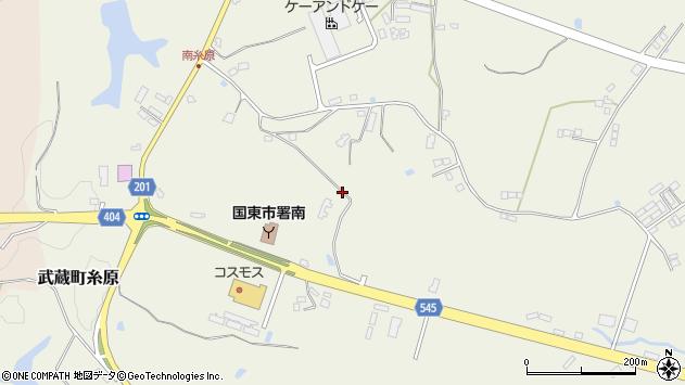 大分県国東市武蔵町糸原3935周辺の地図