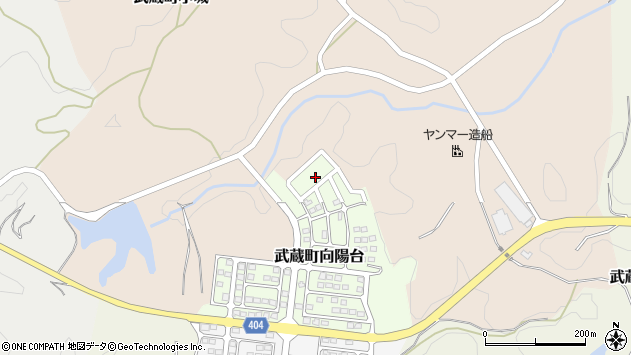 大分県国東市武蔵町向陽台12周辺の地図