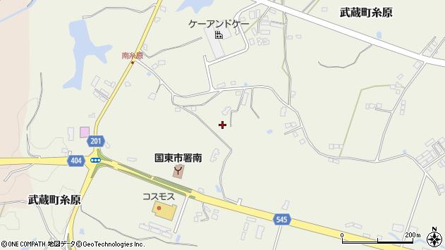 大分県国東市武蔵町糸原東長ノ迫周辺の地図