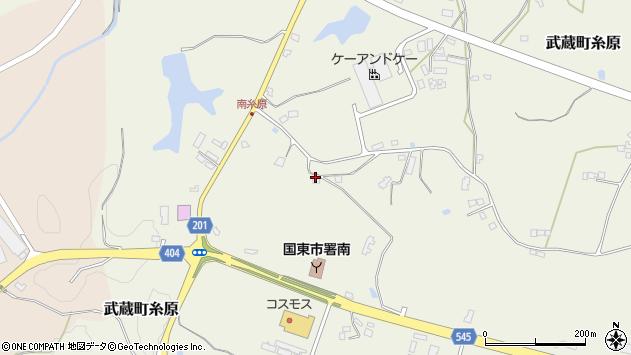 大分県国東市武蔵町糸原3925周辺の地図