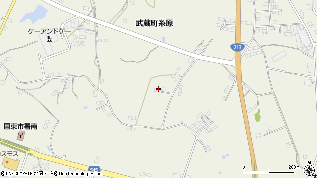 大分県国東市武蔵町糸原3815周辺の地図