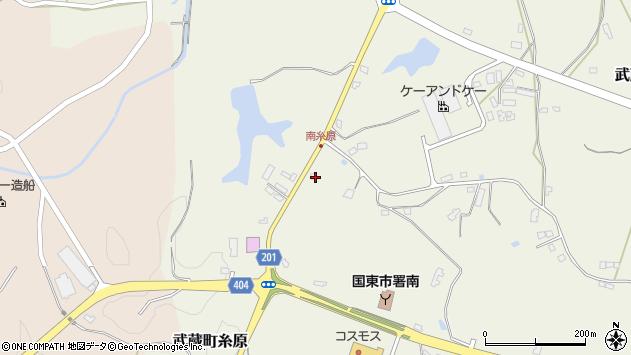 大分県国東市武蔵町糸原3901周辺の地図