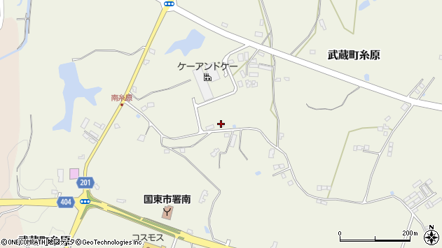 大分県国東市武蔵町糸原3893周辺の地図