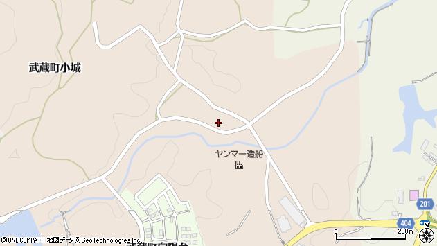大分県国東市武蔵町小城265周辺の地図