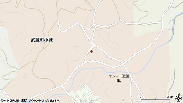 大分県国東市武蔵町小城313周辺の地図