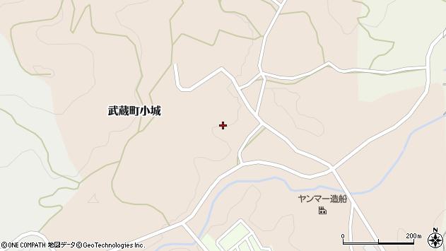 大分県国東市武蔵町小城345周辺の地図