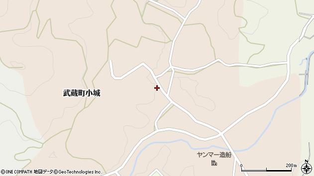 大分県国東市武蔵町小城330周辺の地図