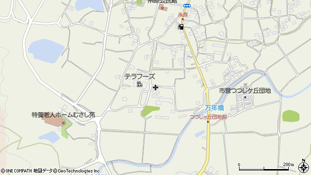 大分県国東市武蔵町糸原1186周辺の地図
