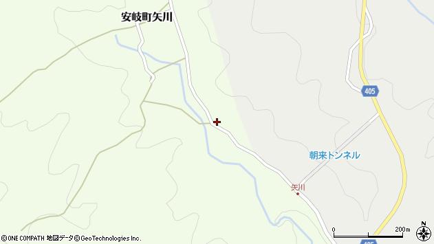 大分県国東市安岐町矢川256周辺の地図