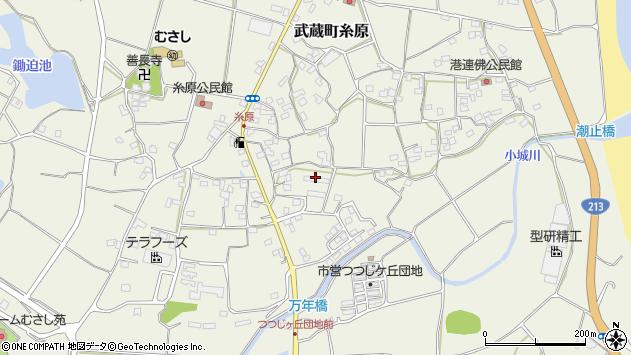 大分県国東市武蔵町糸原1399周辺の地図