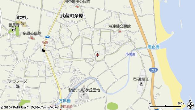 大分県国東市武蔵町糸原1698周辺の地図