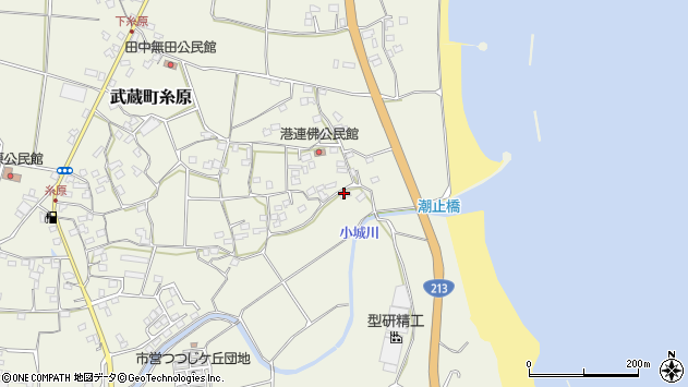 大分県国東市武蔵町糸原1961周辺の地図