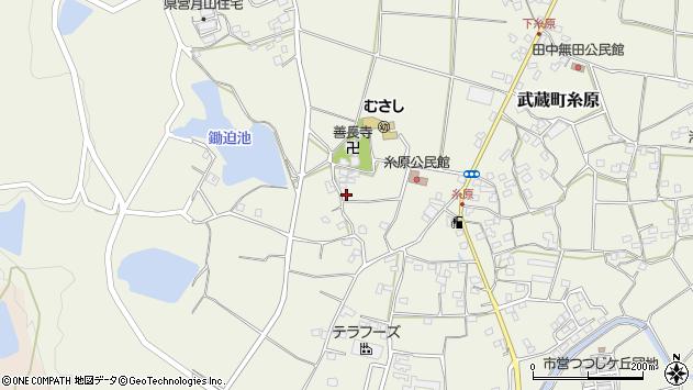 大分県国東市武蔵町糸原1105周辺の地図