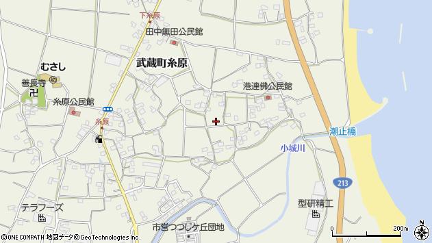 大分県国東市武蔵町糸原連仏周辺の地図