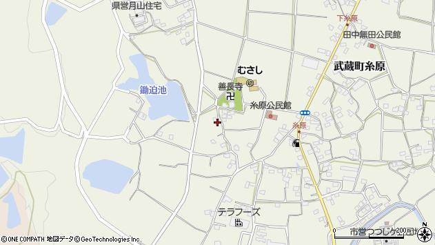 大分県国東市武蔵町糸原1095周辺の地図