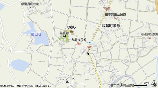 大分県国東市武蔵町糸原430周辺の地図