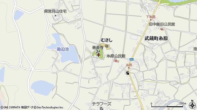 大分県国東市武蔵町糸原493周辺の地図