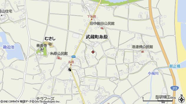 大分県国東市武蔵町糸原1491周辺の地図