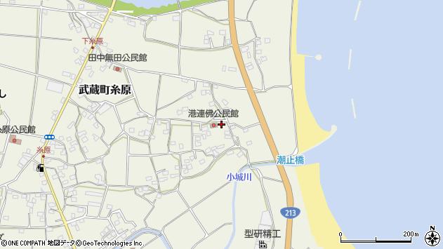 大分県国東市武蔵町糸原1733周辺の地図