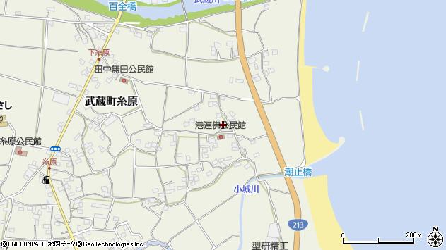 大分県国東市武蔵町糸原1863周辺の地図