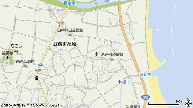 大分県国東市武蔵町糸原1787周辺の地図