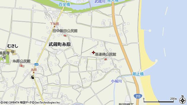 大分県国東市武蔵町糸原1853周辺の地図