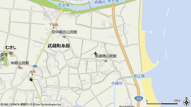 大分県国東市武蔵町糸原1854周辺の地図
