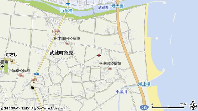大分県国東市武蔵町糸原1851周辺の地図