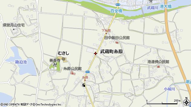 大分県国東市武蔵町糸原434周辺の地図