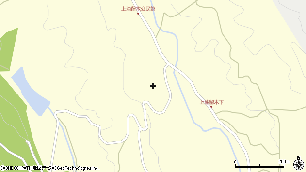 大分県国東市安岐町油留木2080周辺の地図
