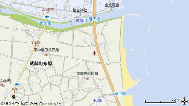 大分県国東市武蔵町糸原134周辺の地図