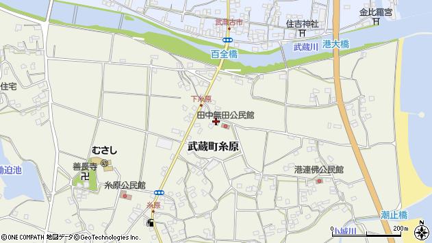 大分県国東市武蔵町糸原1827周辺の地図