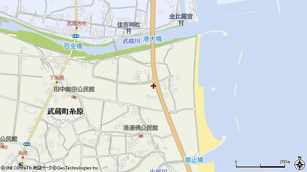 大分県国東市武蔵町糸原125周辺の地図