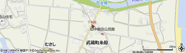 大分県国東市武蔵町糸原周辺の地図